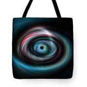 Futuristic Light Eye Tote Bag