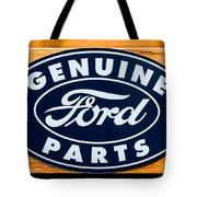 Genuine Ford Parts Sign Tote Bag