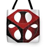 Geometric Subtraction Of Cube And Sphere  Tote Bag