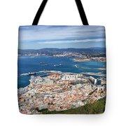 Gibraltar City And Bay Tote Bag