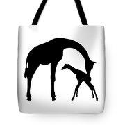 Giraffe In Black And White Tote Bag