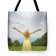 Girl On Meadow Tote Bag by Joana Kruse