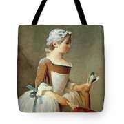 Girl With Racket And Shuttlecock Tote Bag