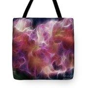Gladiola Nebula Triptych Panel 2 Tote Bag