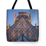 Glass Pyramid At Musee Du Louvre Tote Bag