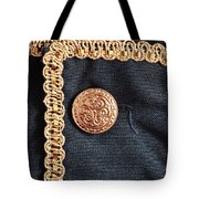 Golden Buttons Tote Bag