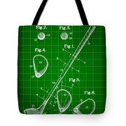 Golf Club Patent 1909 - Green Tote Bag