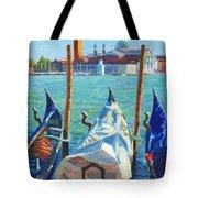 Gondolas And San Giorgio Maggiore Venice Tote Bag