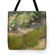 Grass And Butterflies Tote Bag