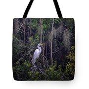Lowcountry Marsh White Heron Tote Bag