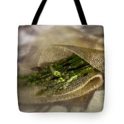 Green Asparagus On Burlab Tote Bag