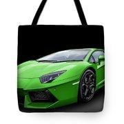 Green Aventador Tote Bag