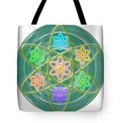 Green Revolution Chakra Mandala Art Yoga Meditation Tools Navinjoshi  Rights Managed Images Graphic  Tote Bag
