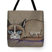Grumpy Cat Having Some Rest Tote Bag