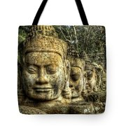Guardians Of Angkor Thom Tote Bag