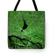 Hamburg Street Map - Hamburg Germany Road Map Art On Colored Bac Tote Bag