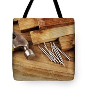 Hammer And Nails  Tote Bag