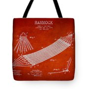 Hammock Patent Drawing From 1895 Tote Bag