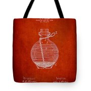 Hand Grenade Patent Drawing From 1884 Tote Bag