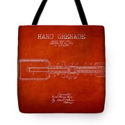 Hand Grenade Patent Drawing From 1916 Tote Bag