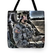 Hdr Image Of A Pilot Equipped Tote Bag