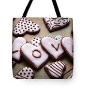 Heart Cookies Tote Bag