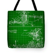 Helicopter Patent 1940 - Green Tote Bag