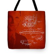 Henry Ford Engine Patent Drawing From 1928 Tote Bag
