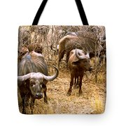 Herd Of Cape Buffaloes Syncerus Caffer Tote Bag