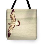Herring Gull In Flight Tote Bag by Karol Livote