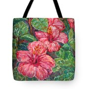 Hibiscus Tote Bag by Kendall Kessler