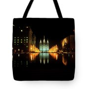 Historic Temple And Square In Salt Lake Tote Bag