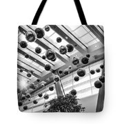 Holiday Glass Ornament Decorations At The Aria Resort And Casino Tote Bag