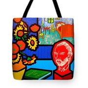 Homage To Vincent Van Gogh Tote Bag