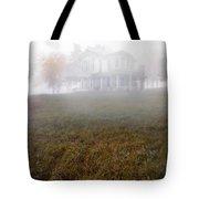 House In Fog Tote Bag