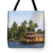 Houseboats On The Kerala Backwaters Tote Bag