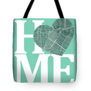 Houston Street Map Home Heart - Houston Texas Road Map In A Hear Tote Bag