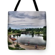 Hoyt Lake Delaware Park 0004 Tote Bag