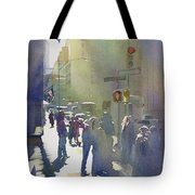 I Saw The Light At 44th And Broadway Tote Bag