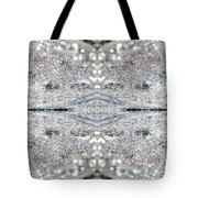 Ice Storm Abstract Tote Bag