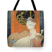 Illustration For 'fetes Galantes' Tote Bag