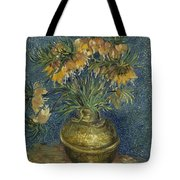 Imperial Fritillaries In A Copper Vase Tote Bag
