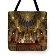Inside St Patricks Cathedral New York City Tote Bag