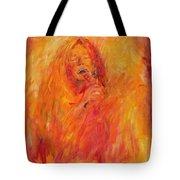 Janis Joplin On Fire Tote Bag