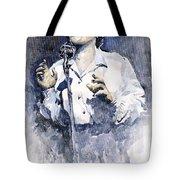 Jazz Billie Holiday Lady Sings The Blues  Tote Bag by Yuriy  Shevchuk