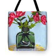 Jeff's Vase And Rodger's Roses Tote Bag