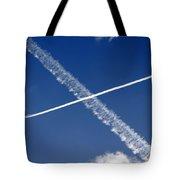 Jet Trails Tote Bag