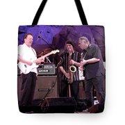 Guitarists Jimmie Vaughan And Duke Robbilard Tote Bag