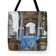 John Roebling Bridge 1867 Tote Bag