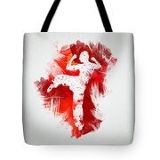 Karate Fighter Tote Bag by Aged Pixel